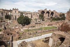 Romano de Foro em Roma, Itália Fotografia de Stock Royalty Free
