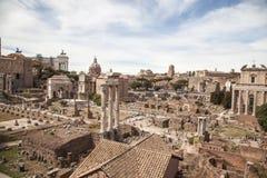 Romano de Foro en Roma, Italia Imagen de archivo libre de regalías