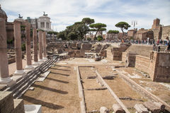 Romano de Foro en Roma, Italia Fotografía de archivo