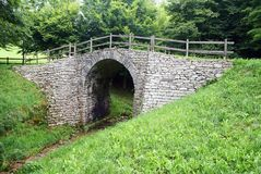 Romano de Ponte sobre através de claudia Augusta Foto de Stock Royalty Free