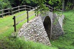 Romano de Ponte sobre através de claudia Augusta Imagem de Stock