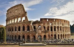 Romano del colosseo de IL, Italia foto de archivo libre de regalías