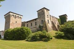 Romano di Lombardia (Italy). medieval castle Stock Image