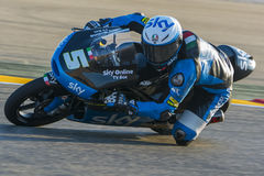 Romano Fenati Moto3 Grand Prix Movistar Aragà ³ ν Στοκ Εικόνες