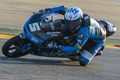Romano Fenati Moto3 Uroczysty Prix Movistar Aragà ³ n Obrazy Stock