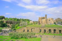 Romano Foro, Roman Forum Stock Photos
