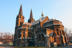 Romano gótico - catedral católica Fotos de Stock