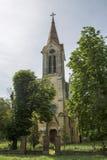Romano-katolik kyrka från Morahovita, Rumänien royaltyfri bild