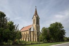 Romano-katolik kyrka från Morahovita, Rumänien arkivfoto
