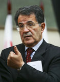 Romano Prodi. President of the Council of Ministers (Prime Minister) of Italy stock photography
