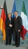 Romano Prodi, Angela Merkel Royalty Free Stock Image