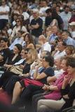 Romano prodi ex-eerste minister in het lachen van Italië Royalty-vrije Stock Afbeelding