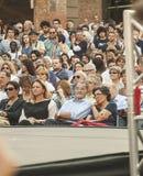 Romano prodi Expremier in Italien int die Masse Lizenzfreie Stockbilder