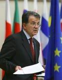 Romano Prodi - premier ministre de l'Italie Images libres de droits