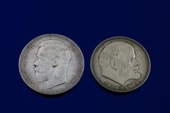 Romanov and Lenin Royalty Free Stock Photos