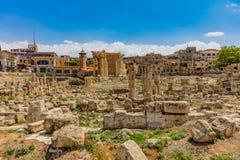 Romans fördärvar Baalbek Beeka Libanon royaltyfri bild