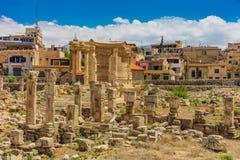 Romans fördärvar Baalbek Beeka Libanon royaltyfria bilder