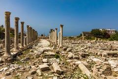Romans fördärvar däcket Sur södra Libanon royaltyfria foton