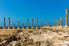 Romans fördärvar däcket Sur södra Libanon royaltyfri foto