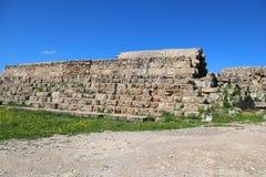 Romans f?rd?rvar av staden av salamier, n?ra Famagusta, nordliga Cypern royaltyfria bilder