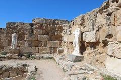 Romans f?rd?rvar av staden av salamier, n?ra Famagusta, nordliga Cypern royaltyfria foton