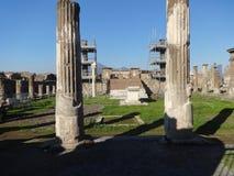 Romans Forum en las ruinas de Pompeya foto de archivo libre de regalías