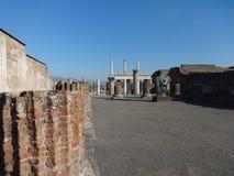 Romans Forum en Pompeya 2 imagen de archivo libre de regalías