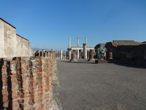 Romans forum przy Pompei 2 obraz royalty free