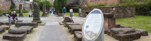 Romans Gardens en Chester Imágenes de archivo libres de regalías