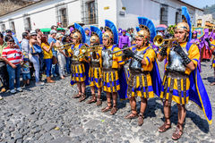 Romans on Holy Thursday, Antigua, Guatemala stock photography