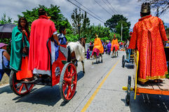 Romans in Holy Week procession, Antigua, Guatemala Stock Photos