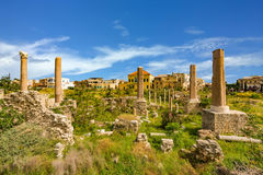 Romans ruin opony Sura południe Liban obrazy stock