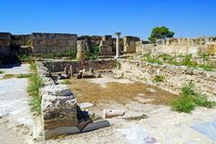 Romans ruins of the city of Salamis, near Famagusta, Northern Cyprus. Stock Photo