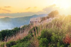 Romans Temple Of Jupiter Anxur dans Terracina, Italie photos libres de droits