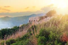 Romans Temple Of Jupiter Anxur i Terracina, Italien royaltyfria foton
