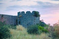 Romans Temple Of Jupiter Anxur i Terracina, Italien fotografering för bildbyråer