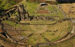Romans Theater idoso, Volterra, Toscânia, Itália Imagens de Stock