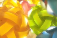 Romansbollar med ljus Arkivfoton