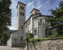 Romansk basilika, Como, Italien Arkivfoton