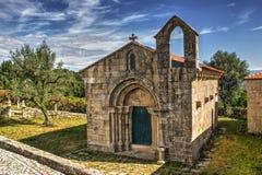 Romansk kyrka av Boelhe i Penafiel Royaltyfri Fotografi