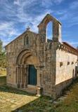 Romansk kyrka av Boelhe i Penafiel Arkivfoto