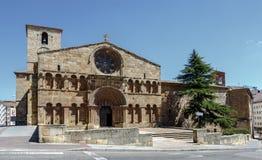Romansk kyrka av Santo Domingo i Soria, Spanien arkivbild