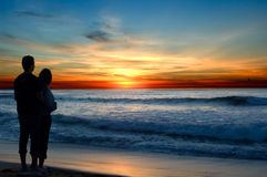 romansk solnedgång Arkivfoton