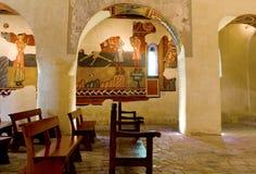 Romanska kyrkliga Sant Joan de Boi, la Vall de Boi Royaltyfria Foton