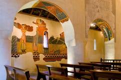 Romanska kyrkliga Sant Joan de Boi, la Vall de Boi, Spanien Royaltyfria Foton