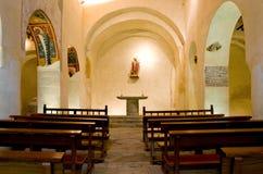 Romanska kyrkliga Sant Joan de Boi, la Vall de Boi, Spanien royaltyfria bilder