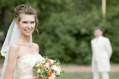 romanskt bröllop Arkivfoton