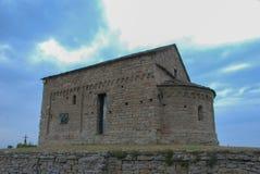 Romanskt kapell av St Sebastian Arkivbild