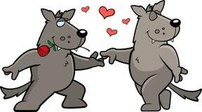 romansowy wilk Zdjęcia Stock