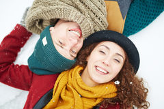 romansu śnieg fotografia stock
